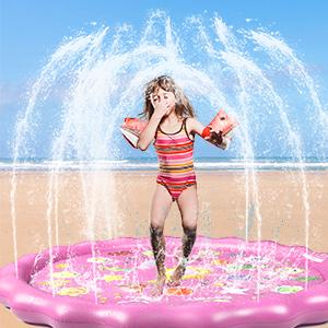 water sprinkler pad for backyard
