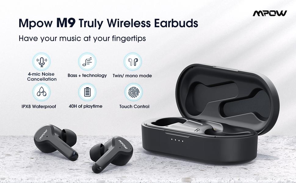 Wireless Earbuds 4Microphones in-Ear