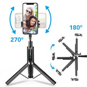 adjustable angle and rotatable phone holder