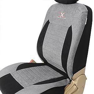 EUGAD 0007QCZT Autositzbezug Sitzbez/üge Schonbezug Sitzschoner schwarz//grau