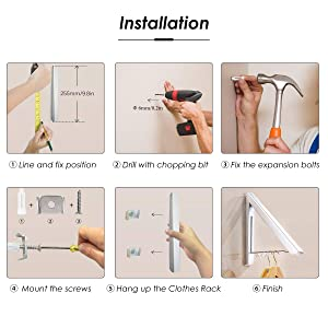 Wall Mounted Folding Clothes Hanger