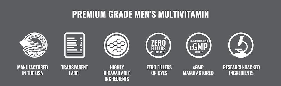 Premium Grade Men's Multivitamin