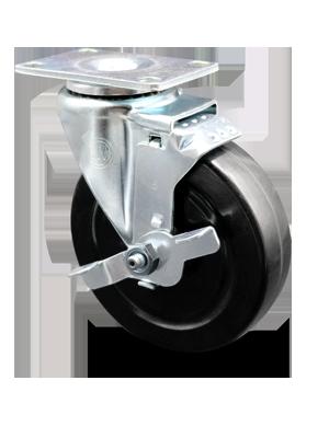 Series 20 Light Duty Hard Rubber Wheel Casters