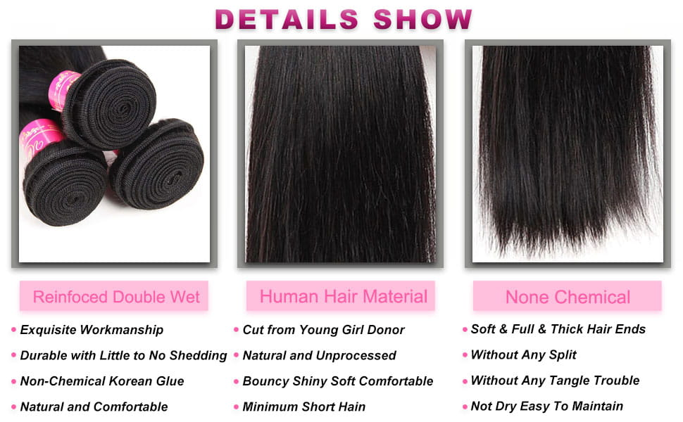 straigth hair bundles
