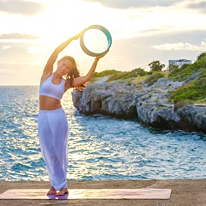 upward salute yoga wheel pose