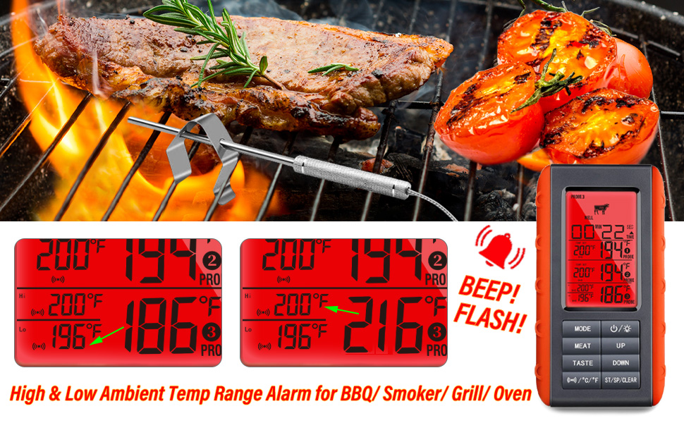 grill thermometer digital probe thermometer