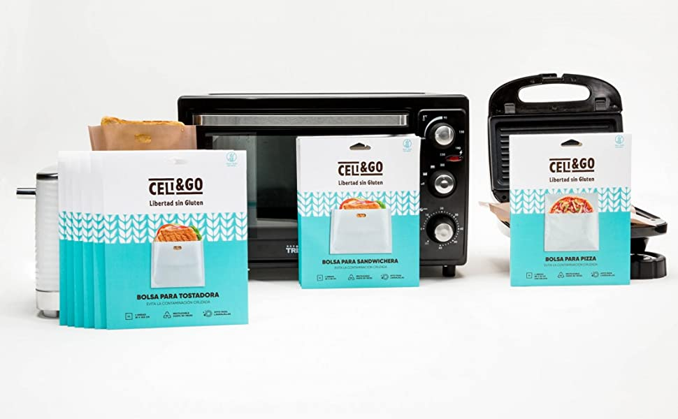 Celi and go, bolsa tostadora, bolsa pizza
