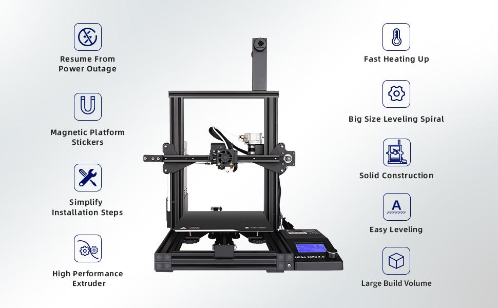 AMYCUBIC MEGA ZREO 2.0 3D PRINTER