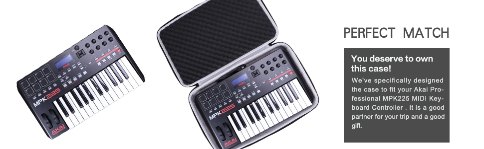 LTGEM Hard Case for Akai Professional MPK225-Weighted USB MIDI Keyboard Controller