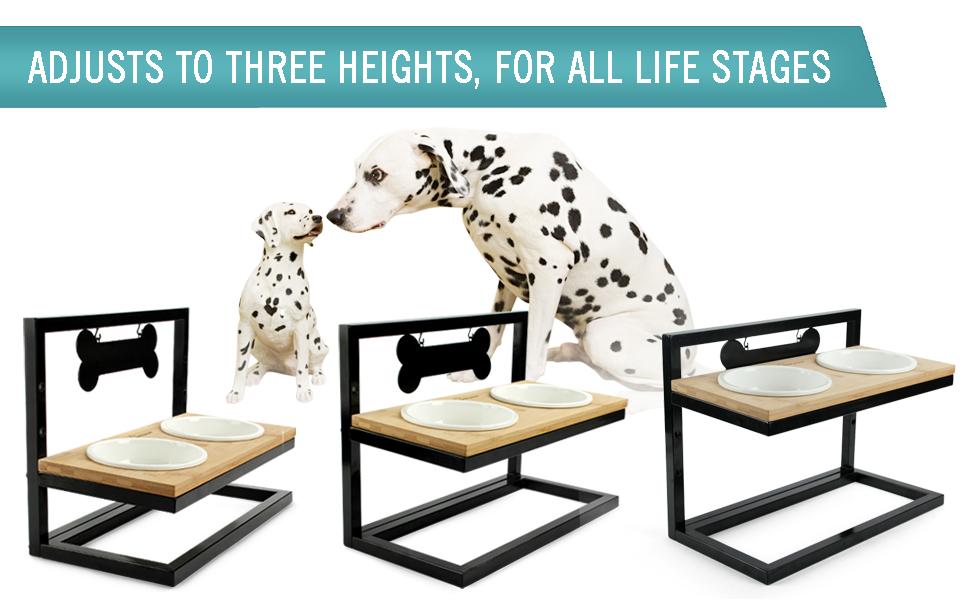 Wantryapet Elevated Dog Bowls Adjustable