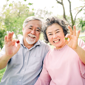 Grandparents Holding Candy