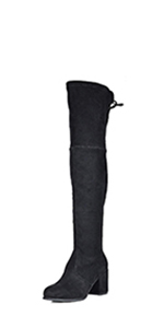 DREAM PAIRS Women's Fashion Casual Over The Knee Pull on Slouchy thigh high Boots