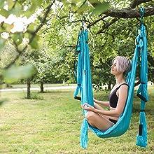yoga swing set yoga inversion ariel silk yogabody yoga trapeze door mount bar aerial silk handles
