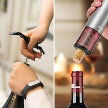 Olivivi Sacacorchos Electrico, Profesional Automatico Abrelatas de Vino, Abridor Botellas de Vino Inalámbrico con Cortador de Papel, Vertedor, Tapón ...