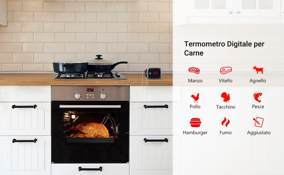 Termometro da Cucina Digitale Termometro per Cucina