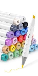24 ohuhu brush marker
