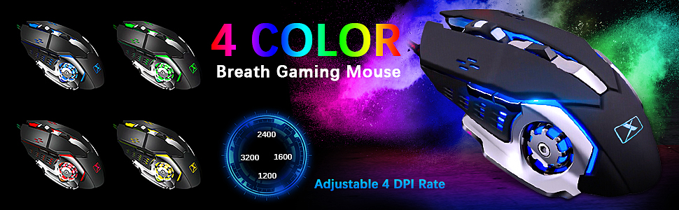 RGB Breathing Light Mouse Combo  Wired Keyboard and Mouse Mousepad Combo,Mechanical Feel Rainbow Backlit Gaming Keyboard Mouse,10 Color RGB Gaming Mice Pad 7 Color Mute Gaming La Souris for PC Laptop Mac 64e9e9fb 9041 46f7 8c71 5bbac3c5b354