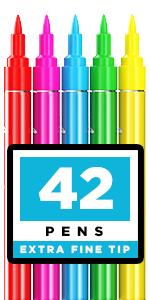 Acrylic Paint Pens – 42 Acrylic Paint Markers – Extra Fine Tip Paint Pens (0.7mm)