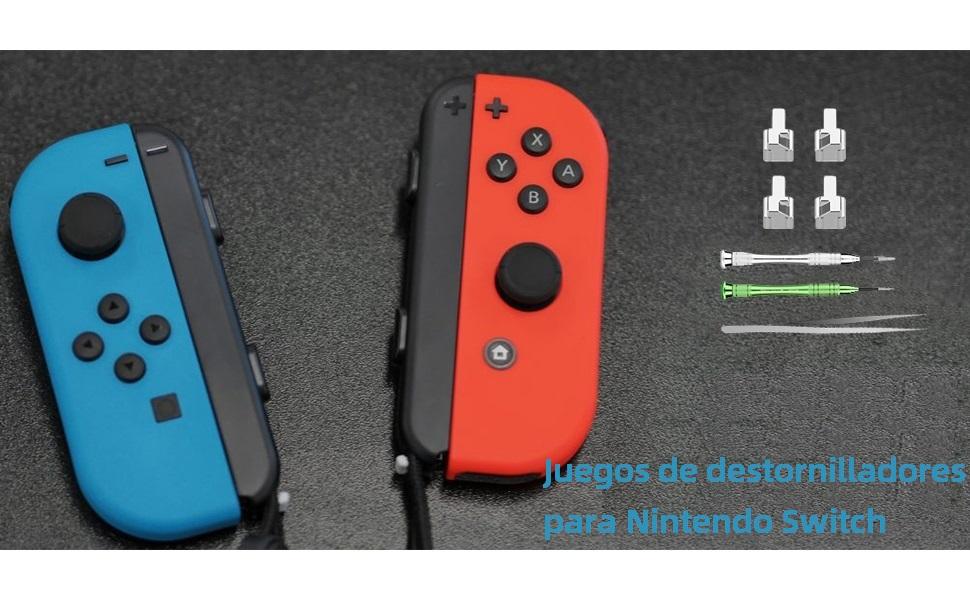 Nicam 4X Cerraduras metálicas Izquierda/Derecha para NS Nintendo Switch Controlador Joy-con Reparar: Amazon.es: Videojuegos