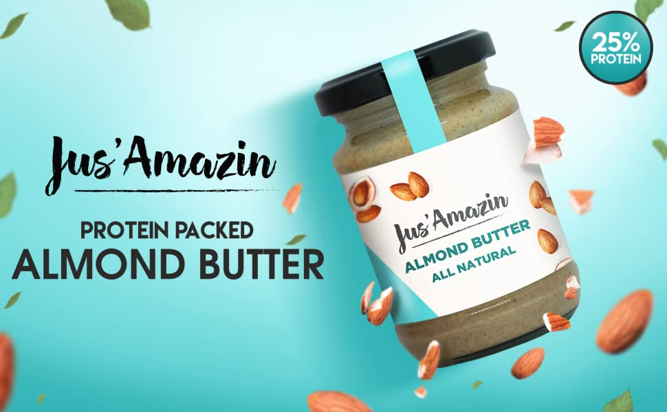 Jus' Amazin Almond Butter, All Natural, 125g
