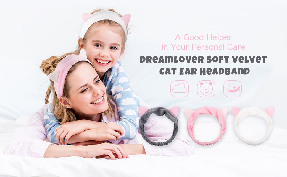 Dreamlover Elastic Velvet Adorable Cat Ear Headband