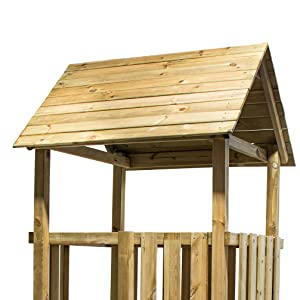 MASGAMES Parque Infantil TIBIDABO con caseta de Madera (Duplex) y tobogán: Amazon.es: Juguetes y juegos