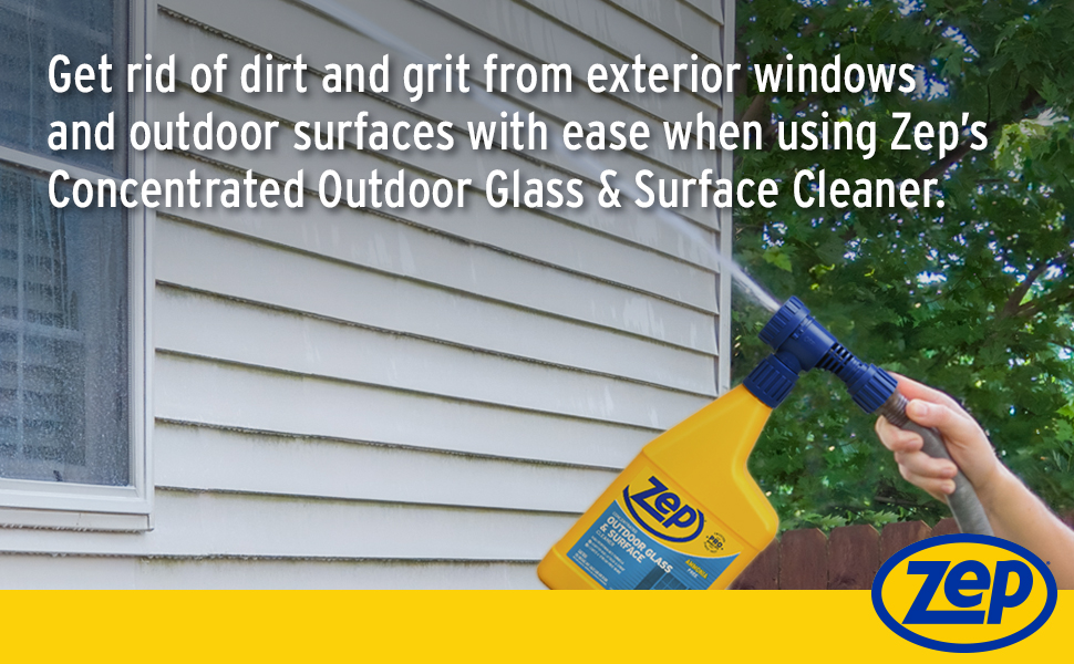 glass cleaner, outdoor hose end glass cleaner