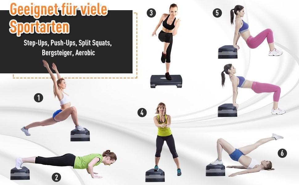 Stepper Aerobic Fitness Hometrainer Stepper in hoogte verstelbaar