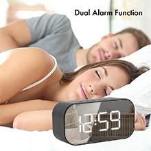 Bluetooth High Bass Speaker FM Radio Alarm Clock Wall Extra Bass Wireless
