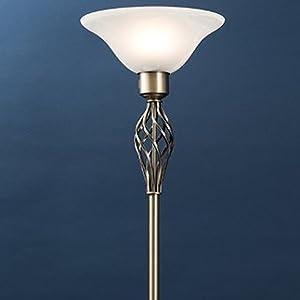 Floor Lamp, Uplighter, Uplighter Floor Lamp, Frosted Alabaster Light Shade, Frosted Light Shade