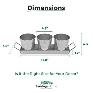 Galvanized Planter Pots Dimensions