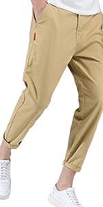 ストレート チノパン アンクル テーパード ロング パンツ 美脚 シンプル レギュラー 綿パン メンズ