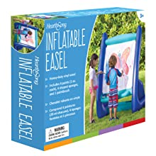 Inflatable Easel for Indoor or Outdoor Inflatables Red /& Blue Easel for Kids Double Sided 4 ft Tall 3 ft Wide Inflatable Art Easel for Kids