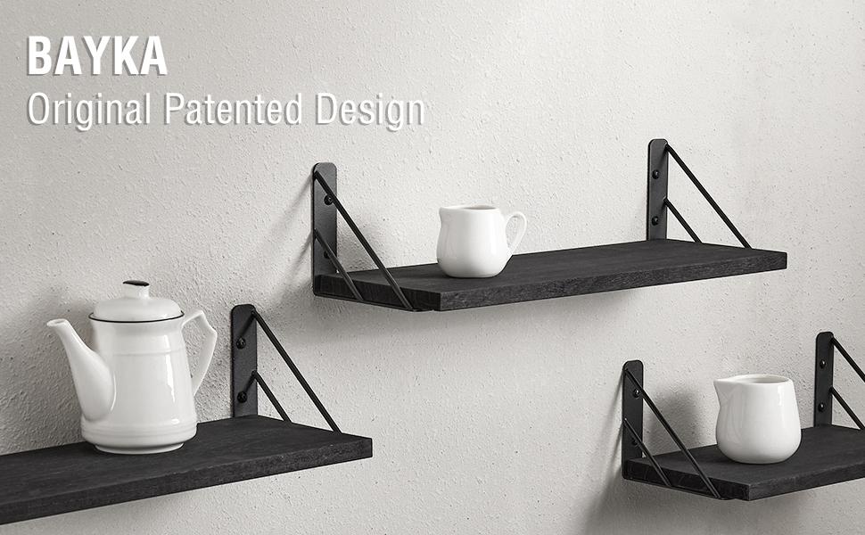 BAYKA floating shelves