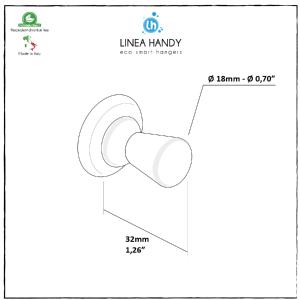 Handy Drop Magn/ético Blanco/ /Perchero de dise/ño Magn/ético /Perchero con Im/án Ideal para el ba/ño y para TU Cocina 100/% Fabricado en Italia/