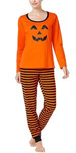 Halloween Pumpkin Cute Pajamas Set