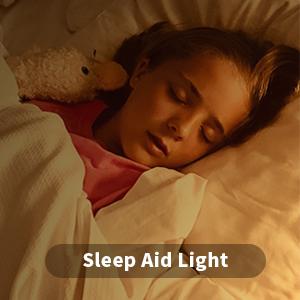 Sleep aid light clock radio