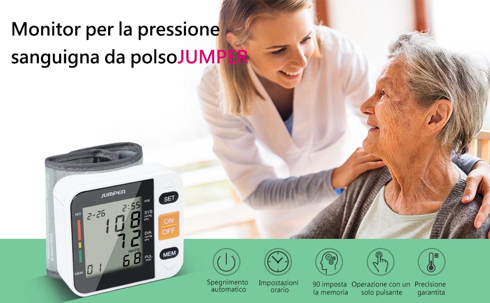 El monitor de presión arterial de muñeca JUMPER