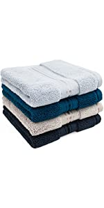4 colors washcloths
