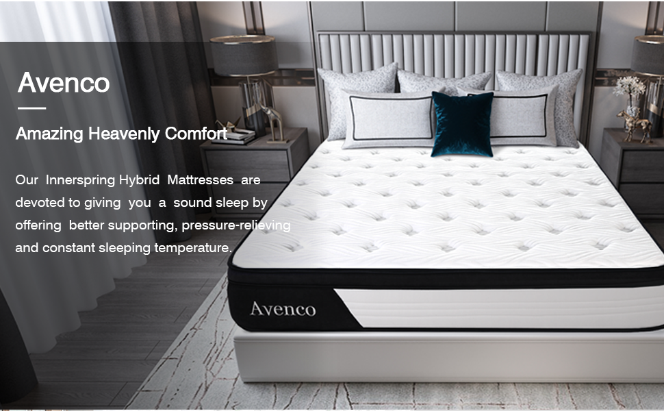 Innerspring Hybrid Mattress is devoted to giving your a sound sleeping by offer support, cool..