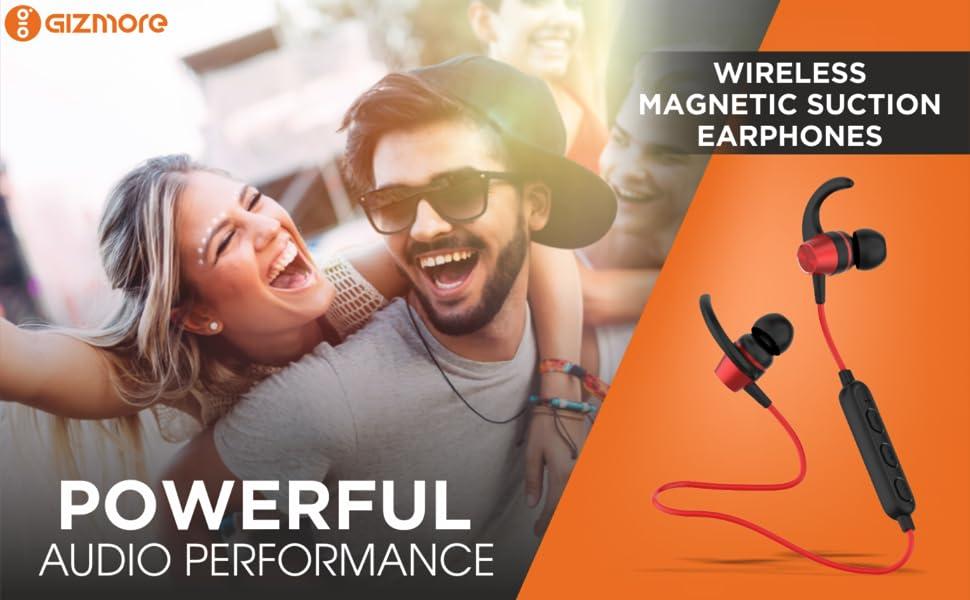 Gizmore Wireless Neckband GIZ MN203 (Red)