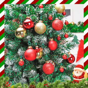 The hanging hook is green, and can be well hidden inside the Christmas tree to