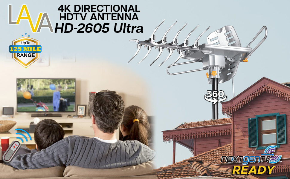 outdoor directional hdtv antenna 4k
