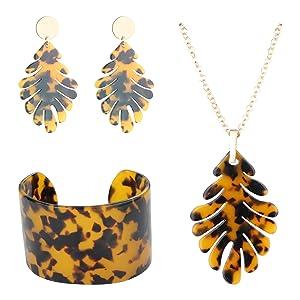 acrylic jewelry set