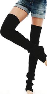 Cuffs Leg Warmers Biojersey Black Cloud Size M Overknee