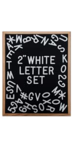 2 inch white letters