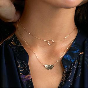 Pearl Necklace Plastic Ball Necklace Light Pendant Orange Pendant Necklace with Medallion Short Necklace