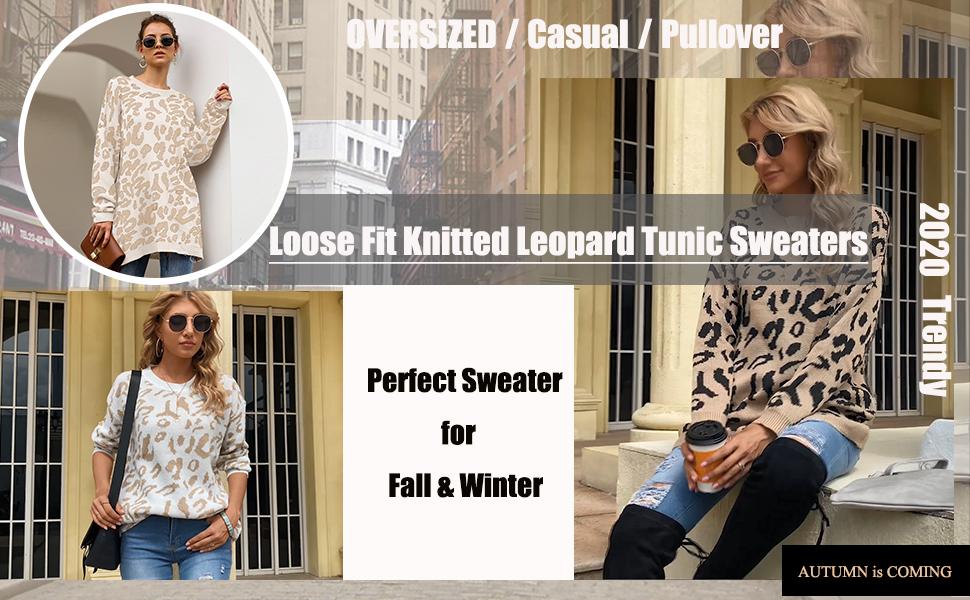 leopard sweaters for women