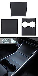 tesla model y console cover