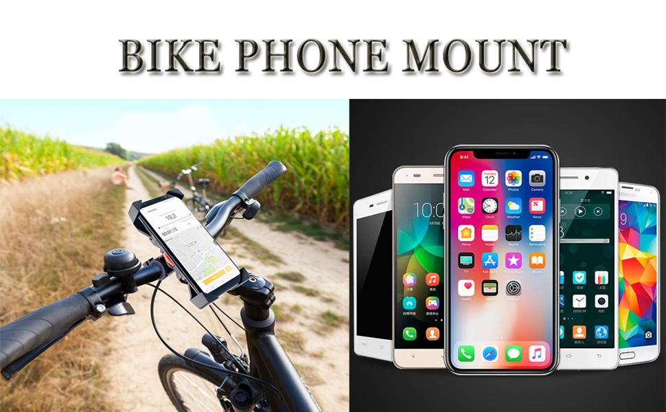 Black Universal Cradle Clamp for iOS Android Smart Phone 360/° Rotation Bike Phone Holder YQXCC Bike Phone Mount Bicycle Motorcycle Holder Bike Accessories